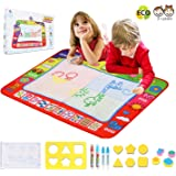 Doodle Drawing Mat,Doodle Mat for Kids Toys Large Aqua Magic Doodle Mats Mess Free Coloring Painting Pad 32x24 inches Writing Board in 4 Colors with 4 Magic Pens for Boys Girls Toddlers