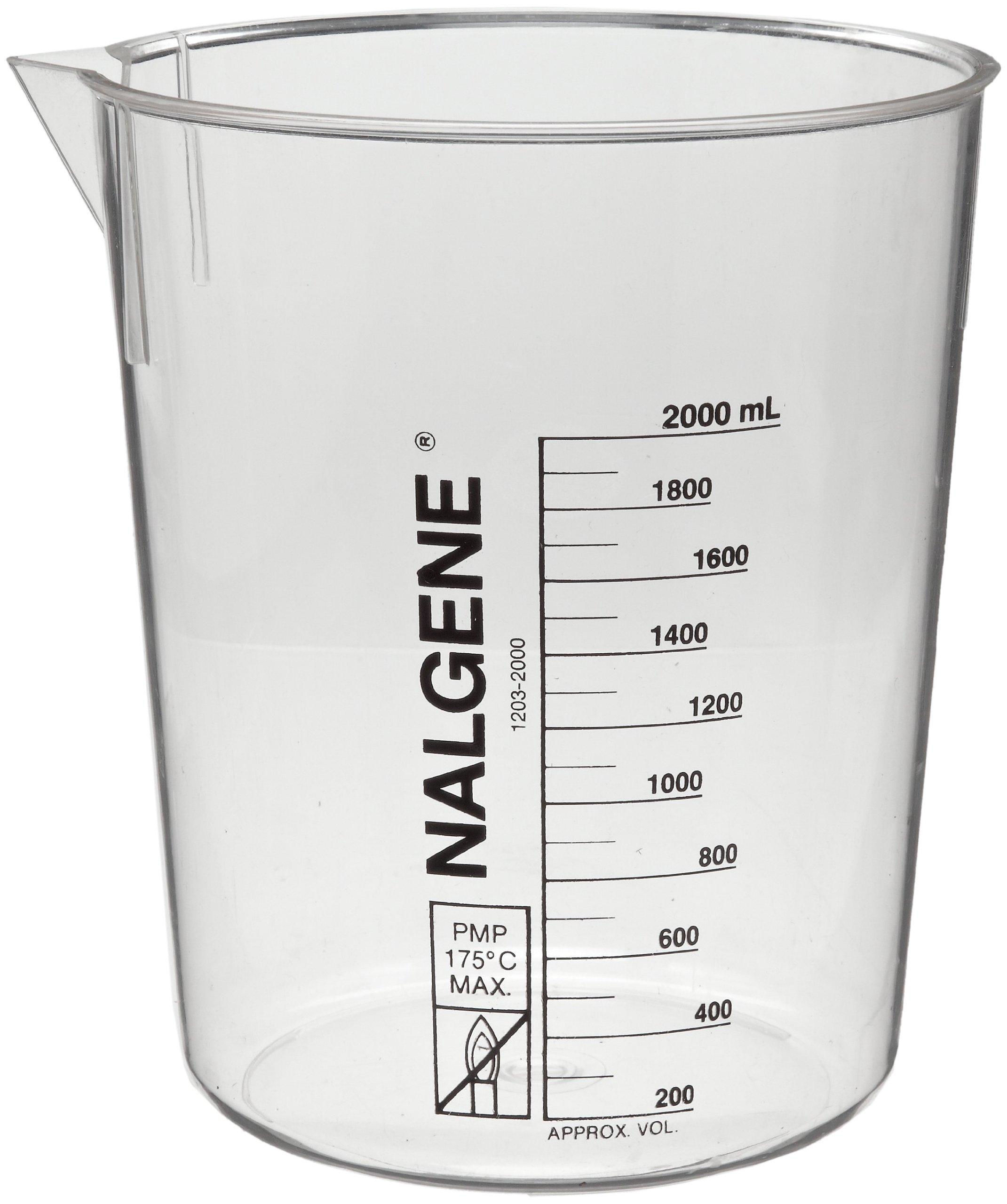 Nalgene 1203-4000 Polymethylpentene Low Form Griffin Beaker, 4000mL Capacity