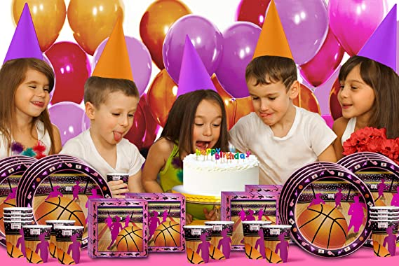 BASKETBALL Fanatic Birthday Party Supply Pack Decoration Kit for 16