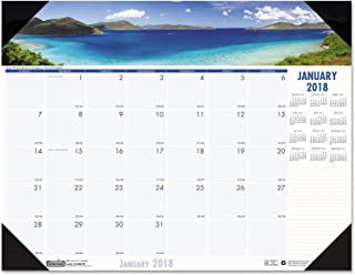 product image for House of Doolittle 1786 Coastlines Photographic Monthly Desk Pad Calendar, 18-1/2 x 13, 2018