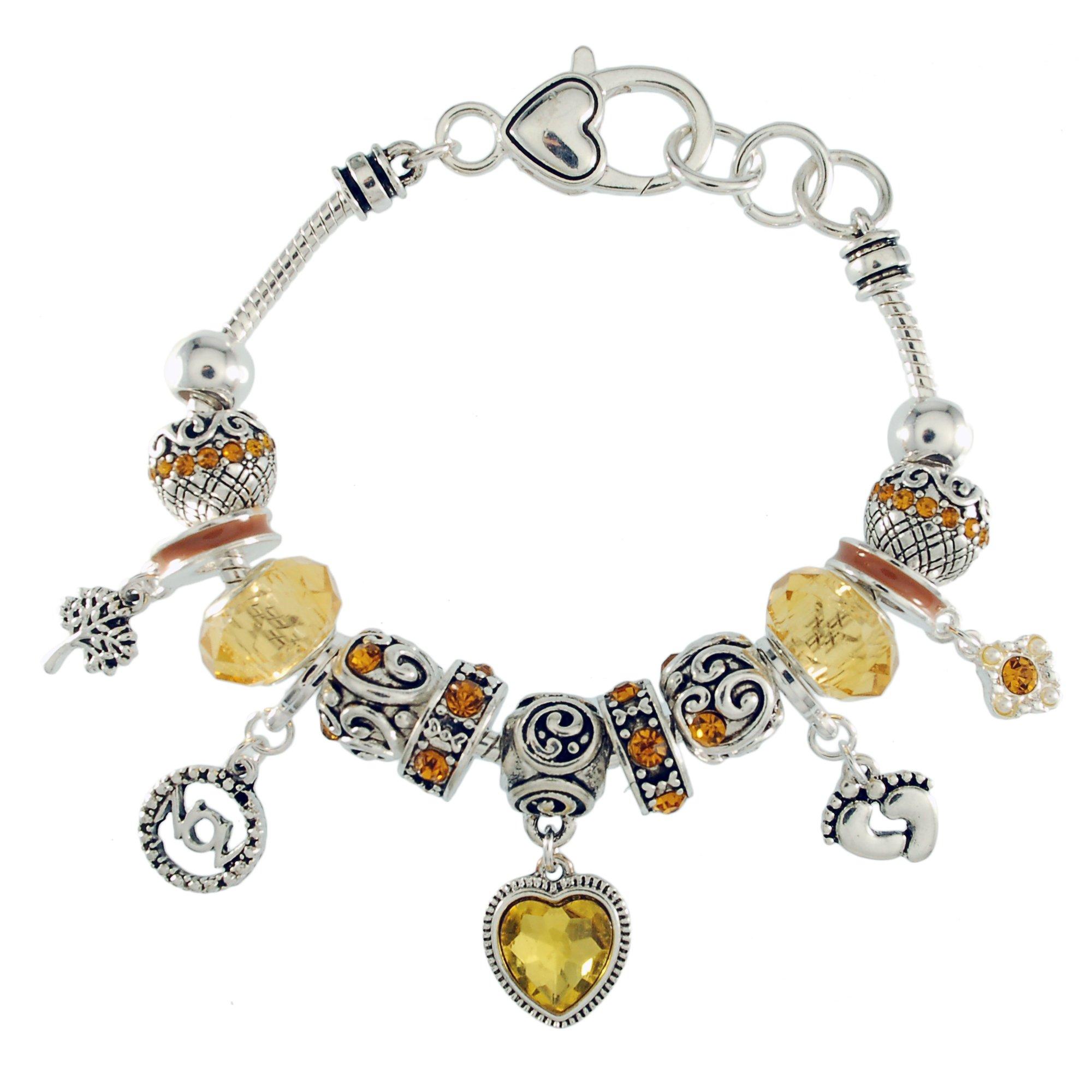 Landau Ambrosia November Birthstone Charm Bracelet