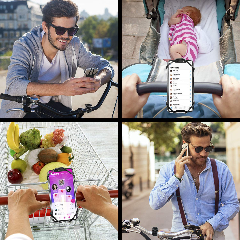 MOSUO Handyhalterung Fahrrad Universal Handy Halterung Motorrad Handyhalterung mit 360/° Drehbar Fahrradhalterung Halter Abnehmbar f/ür alle 4-6.5 Zoll Smartphones