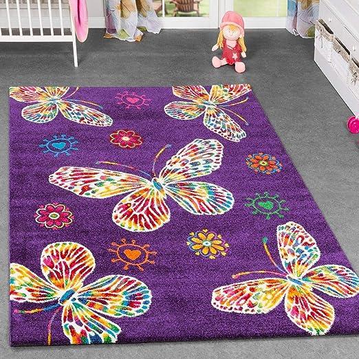 Alfombra infantil Diseño de mariposas Para cuarto de los