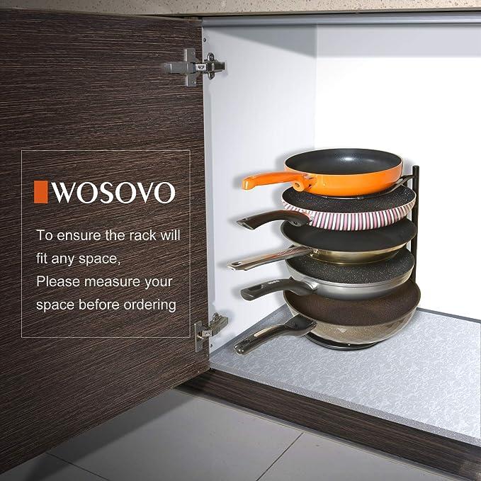 Amazon.com: Organizador de tapa para ollas de cocina ...