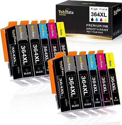 TohiTata 364XL Cartucho de Tinta Reemplazo para HP 364 Compatible con HP Deskjet 3520 3070A HP Photosmart 5520 6510 6520 5510 7510 5524 5522 7520 B109a B010a HP Officejet 4620 4622 (10 Pack): Amazon.es: Oficina y papelería