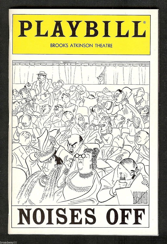 Dorothy Loudon'NOISES OFF' Victor Garber/Paxton Whitehead/Al Hirschfeld 1984 Broadway Playbill