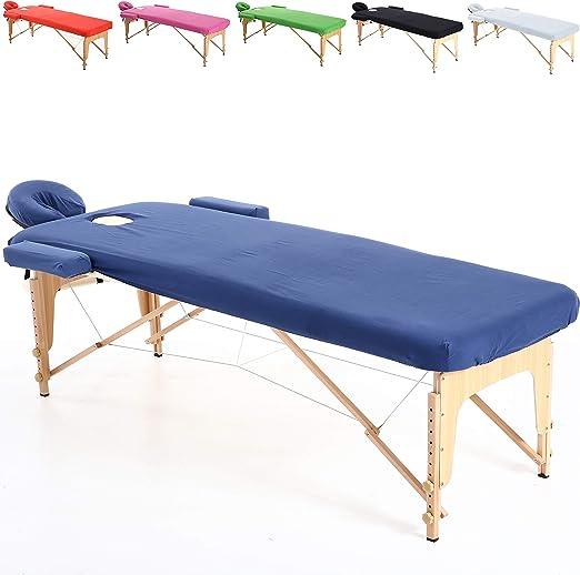 Beltom Funda de algodón para Mesa de masajes 195 x 70 cm. - Azul ...