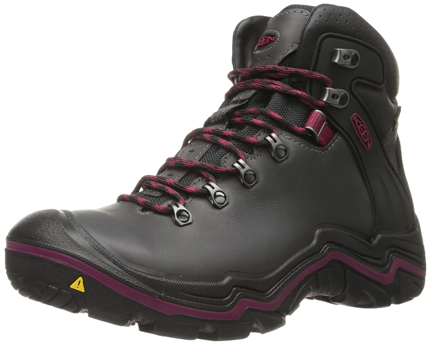 KEEN Women's Liberty Ridge Boot B00RLUKVQA 8.5 B(M) US|Gargoyle/Beet Red
