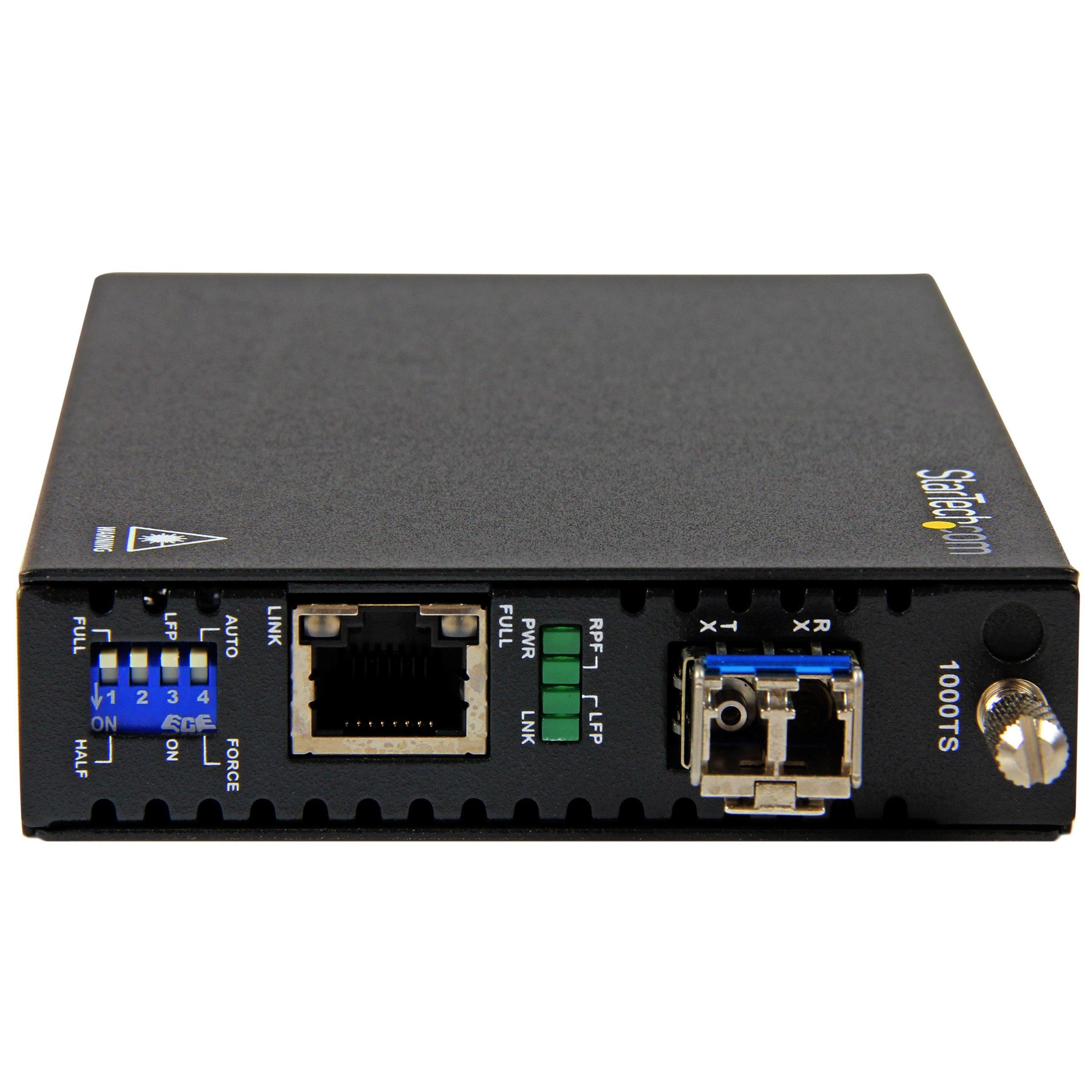 StarTech.com Gigabit Ethernet Copper-to-Fiber Media Converter - SM LC - 10 km ET91000SM10 by StarTech (Image #2)