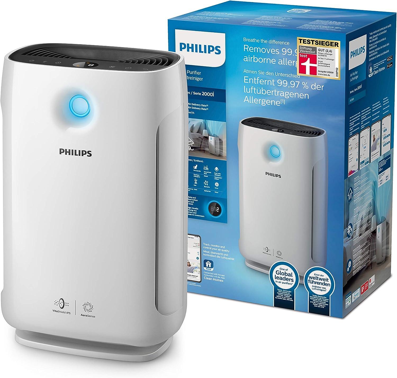Philips - Purificador de aire (179 m³/h, 79 m², 64 dB, 12 h, 1,8 m ...