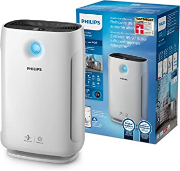 Philips - Purificador de aire (179 m³/h, 79 m², 64 dB, 12 h, 1,8 m, 198 m³/h): Amazon.es: Hogar