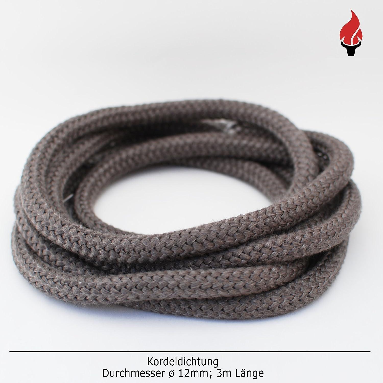 Chimenea Junta para puertas No adhesiva Junta de cordón para discos para caminos, drooff, olsberg, Oranier, Wamsler Chimenea 3 m, diámetro de 12 mm: ...