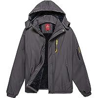 KORAMAN Men s Mountain Ski Jacket Water-Resistant Winter Fleece Snow Jacket  Coat with Detachable Hood 4f2e793e9