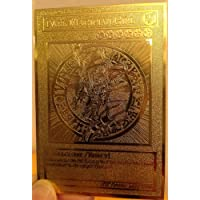 English Dark Magician Girl Yugioh Custom Metal Card Limited Golden Card New by Yu-Gi-Oh