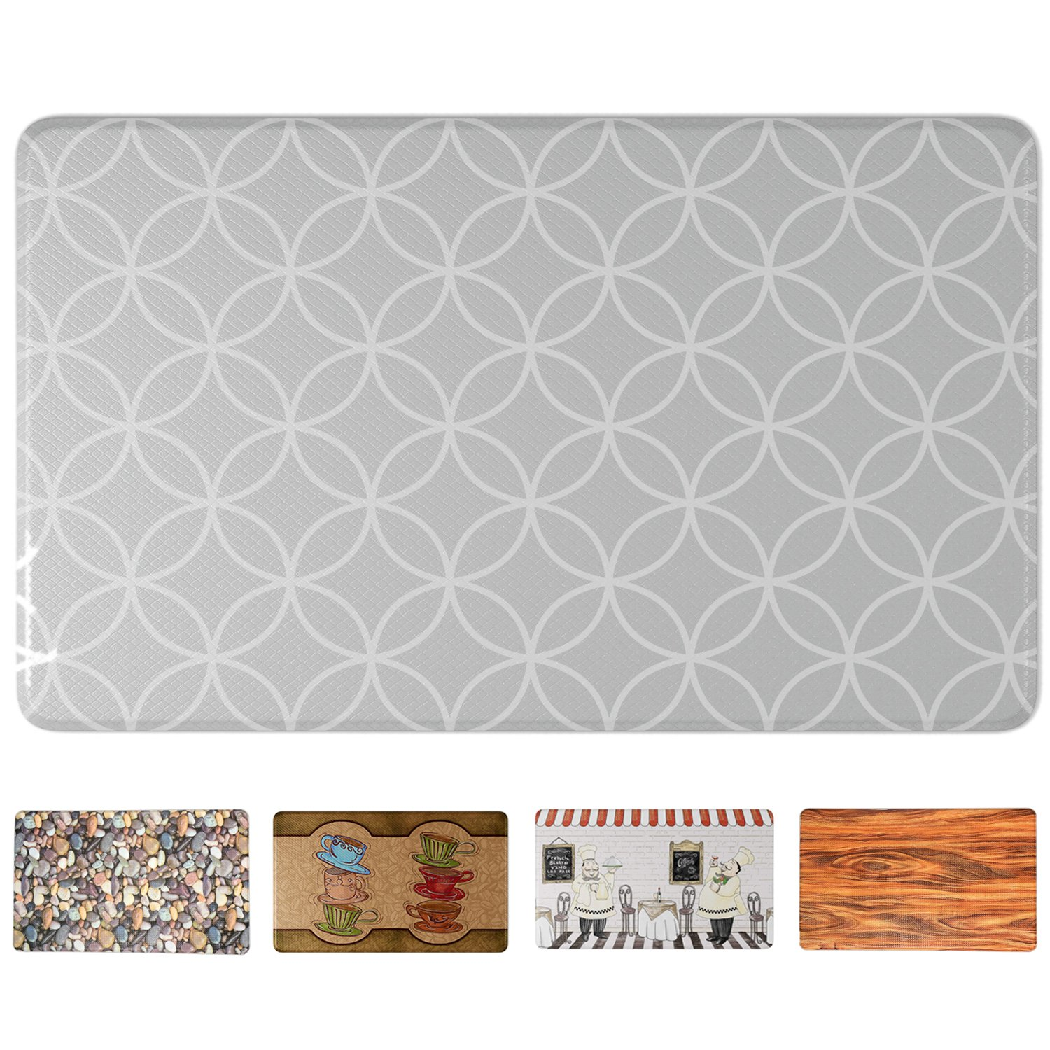 Art3d Premium Kitchen/Office Comfort Standing Mat Comfort Kitchen Rug, 18'' W X 30'' L
