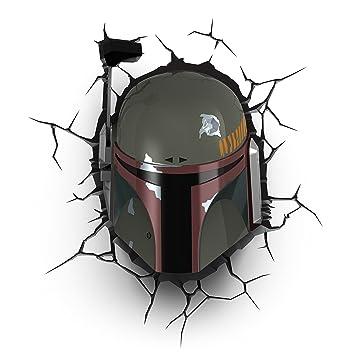 Sticker Lampe Et 3d Wars Fett– Murale Led Boba Veilleuse Star Minuteur Avec Muraux –casque Light Fx Enfant oxBedCr