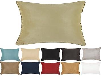 Amazon.com: DreamHome – Funda de almohada de ante sintético ...