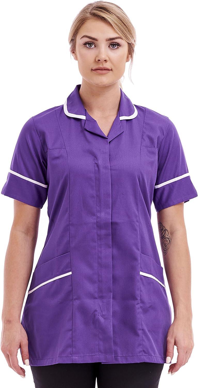 Nurses Healthcare Tunic Uniform Hospital Work Wear Clothes Top 10 12 14 16