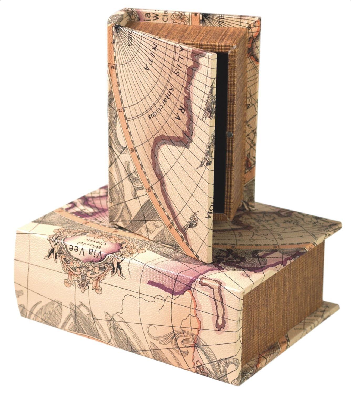 Amazon Small Decorative Boxes: Old World Map Accessories: Amazon.com