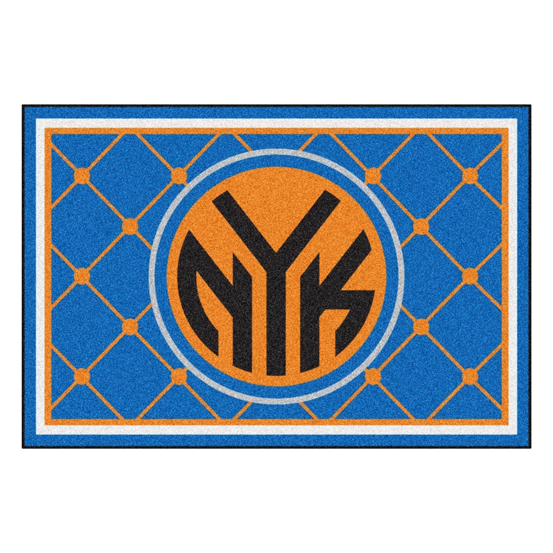 FANMATS NBA New York Knicks Nylon Face 5X8 Plush Rug