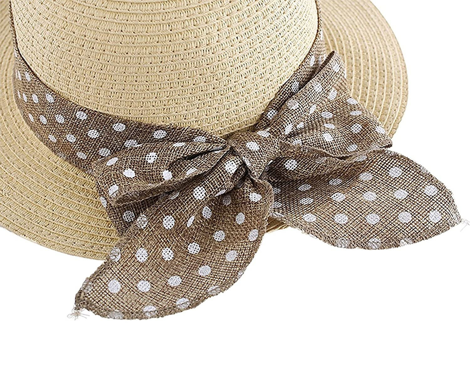 Magracy Baby Girls Straw Hat Sun Protection Hats Summer Bowknot Beach Cap for Kids
