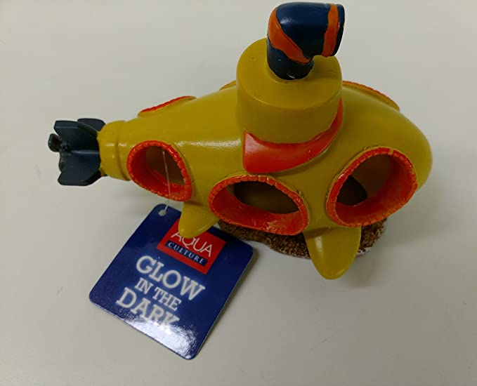 Amazon Com Yellow Submarine Ceramic Fish Tank Decoration Cell