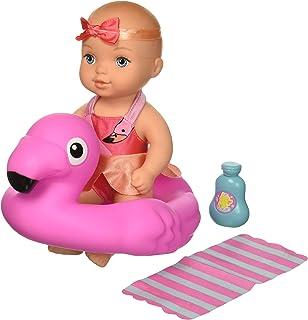 Naked toddler girl in rubber swimming pool phrase final