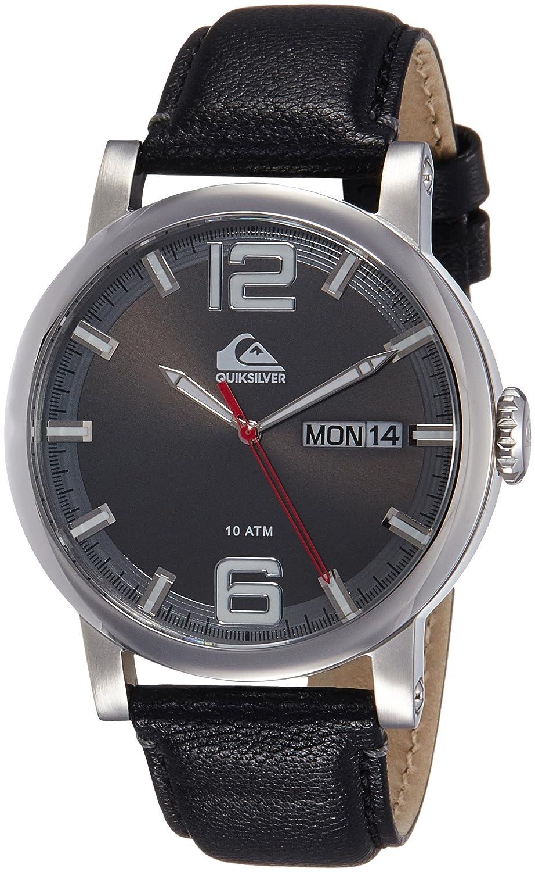 Quiksilver Herren-Armbanduhr The Sentinel Analog Leder Schwarz QS-1010GYSV