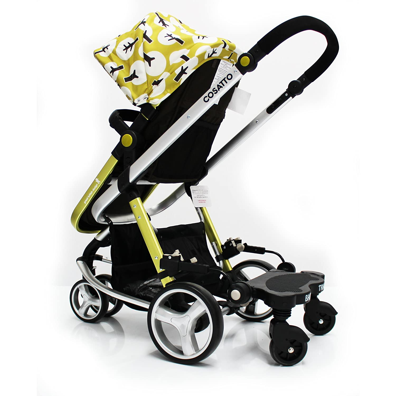 Buggy Stroller Pram Board To Fit Cosatto Giggle Black Grey Amazon