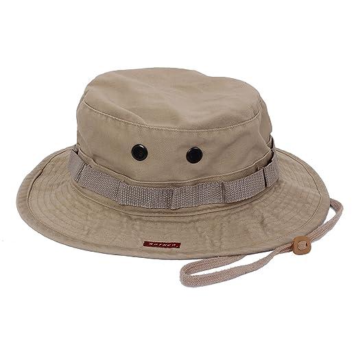d1a9cd73567 Amazon.com: Rothco Vintage Boonie Hat, Khaki, 7 1/4: Military ...