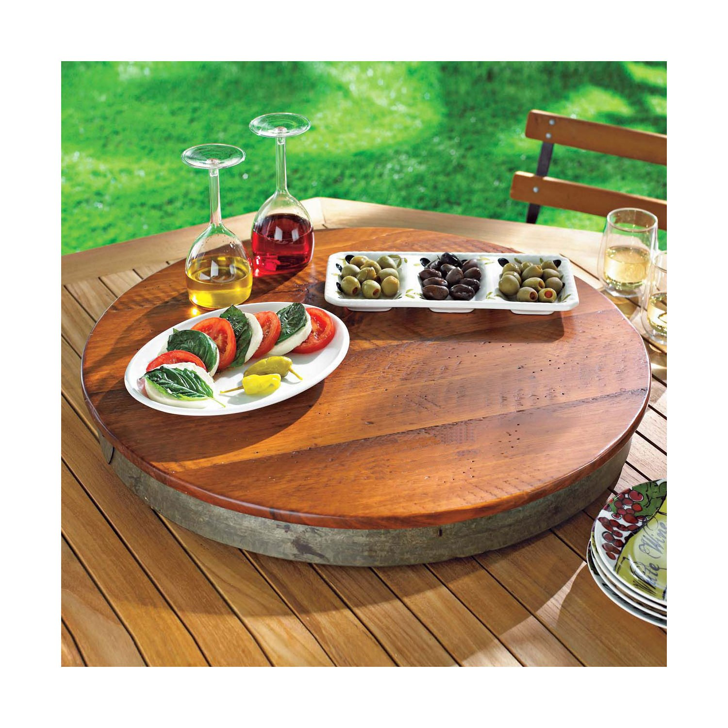 Orvis Wine Barrel Lazy Susan / Only Plain