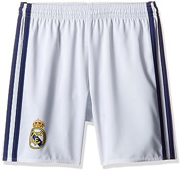 c4637b974 Adidas Boy's Real Madrid Home Shorts - Crystal White S16/Raw Purple S16,  Size