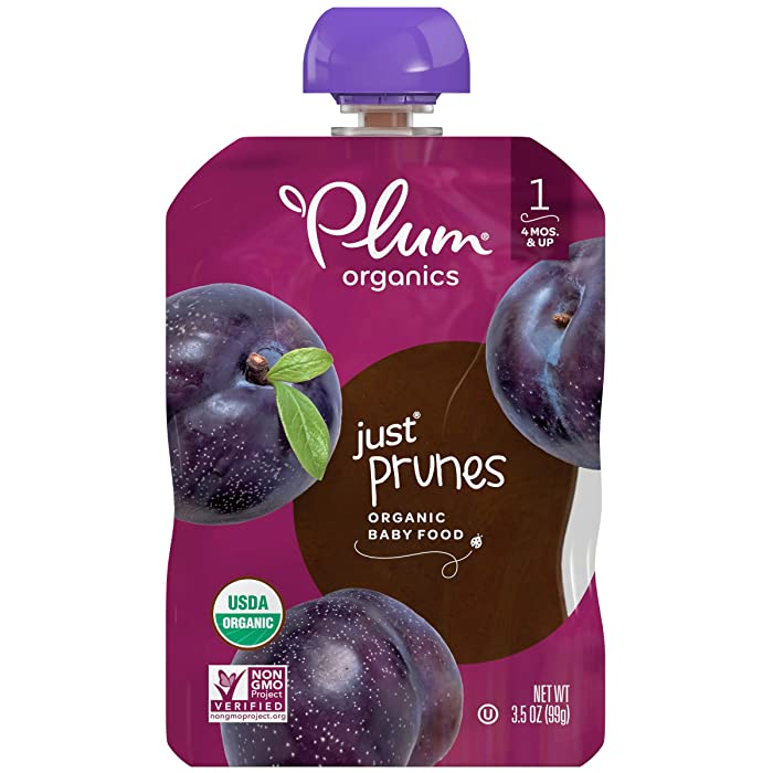 Plum Organics Stage 1 Organic Baby Food, Prune Puree, 3.5 Ounce Pouch (Pack of 12)