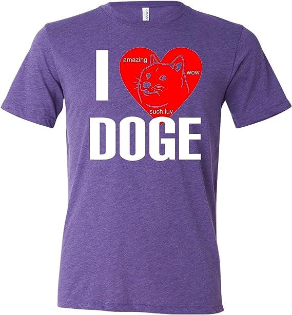 Adultos I Love Doge I corazón Doge WOW increíble Triblend camiseta: Amazon.es: Ropa y accesorios