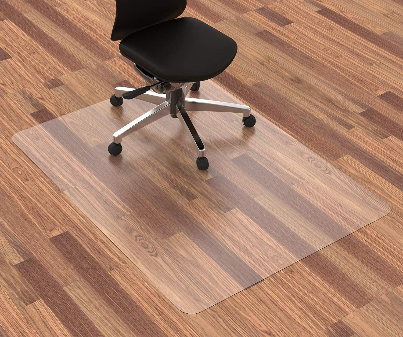 "[Upgraded Version] HOMEK Office Chair Mat for Hardwood Floor, 48"" x 36"" Desk Chair Mat for Hard Floor, Easy Glide for Chairs"