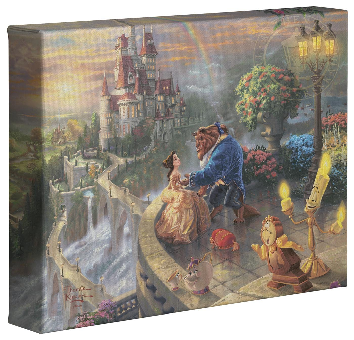 Thomas Kinkade Beauty and the Beast Falling In Love – 8 x...