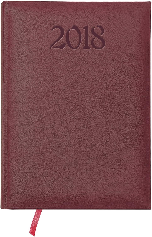 Dohe Calabria - Agenda 2018 con 160 páginas, 17 x 24 cm, color burdeos: Amazon.es: Oficina y papelería