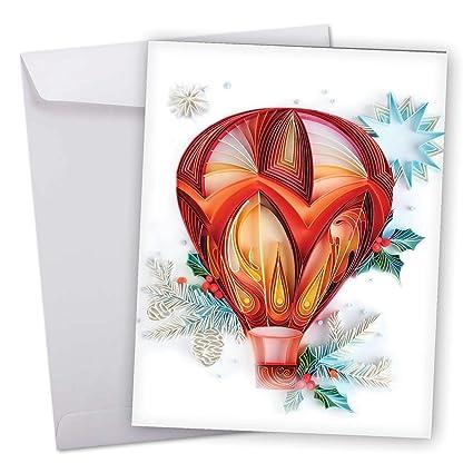 Amazon xl merry christmas greeting card christmas quilling xl merry christmas greeting card christmas quilling featuring quill artwork of hot air m4hsunfo