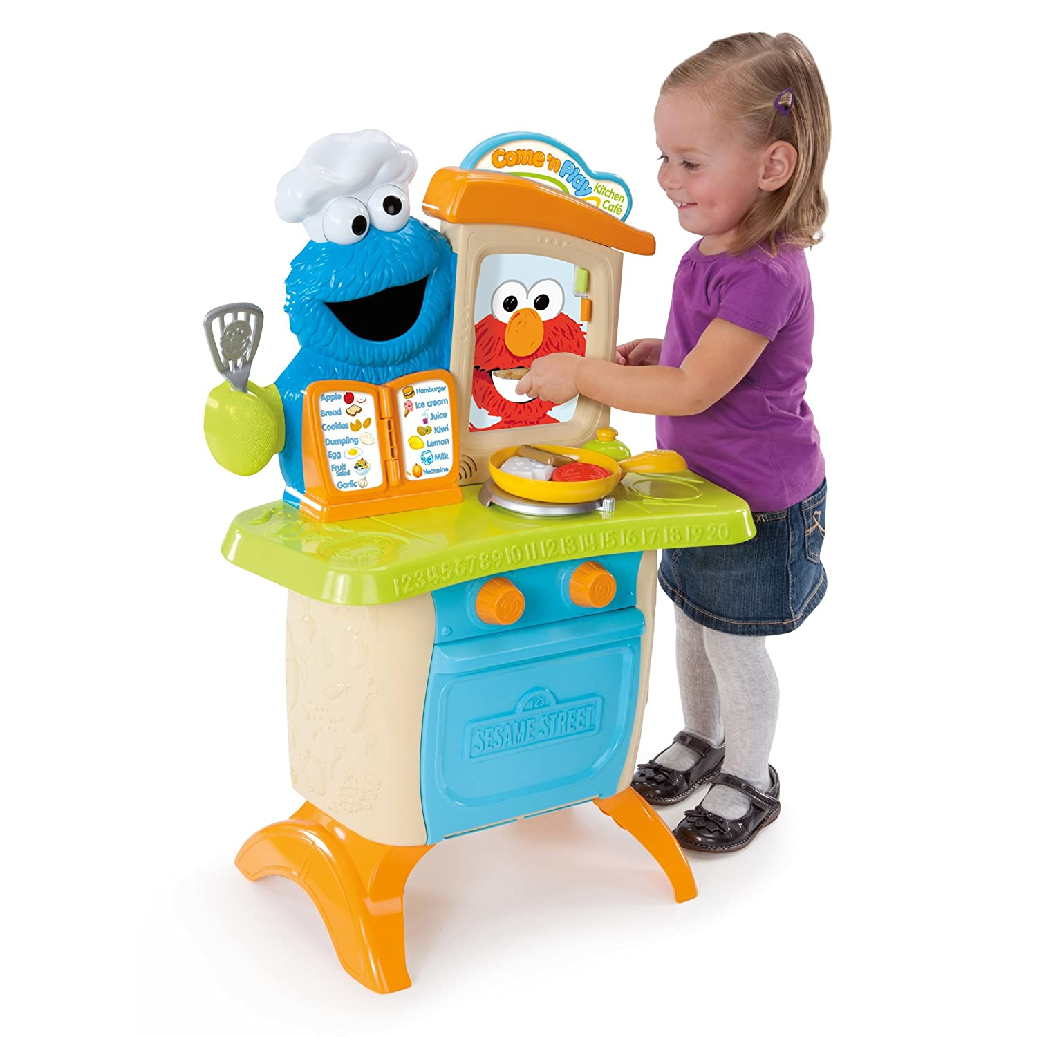 amazoncom playskool sesame street come 'n play cookie monster  - amazoncom playskool sesame street come 'n play cookie monster kitchencafé playset toys  games