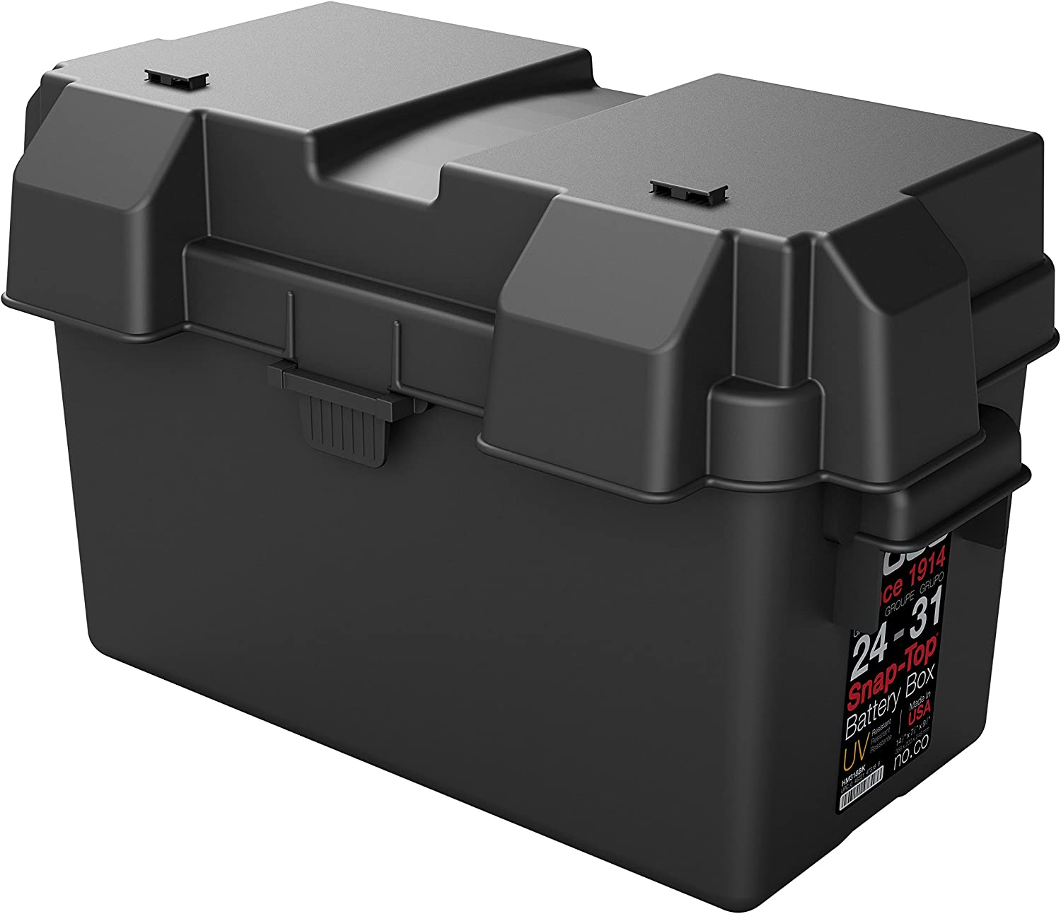 NOCO HM318BKS Group 24-31 Snap-Top Battery Box For RV, Camper And Trailer Batteries