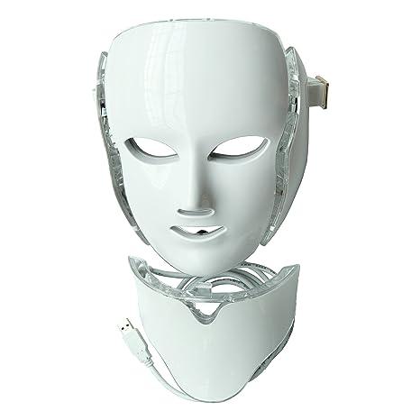 Terapia par la luz LED Photon máscara con cuello | belleza y piel cuidado máscara de