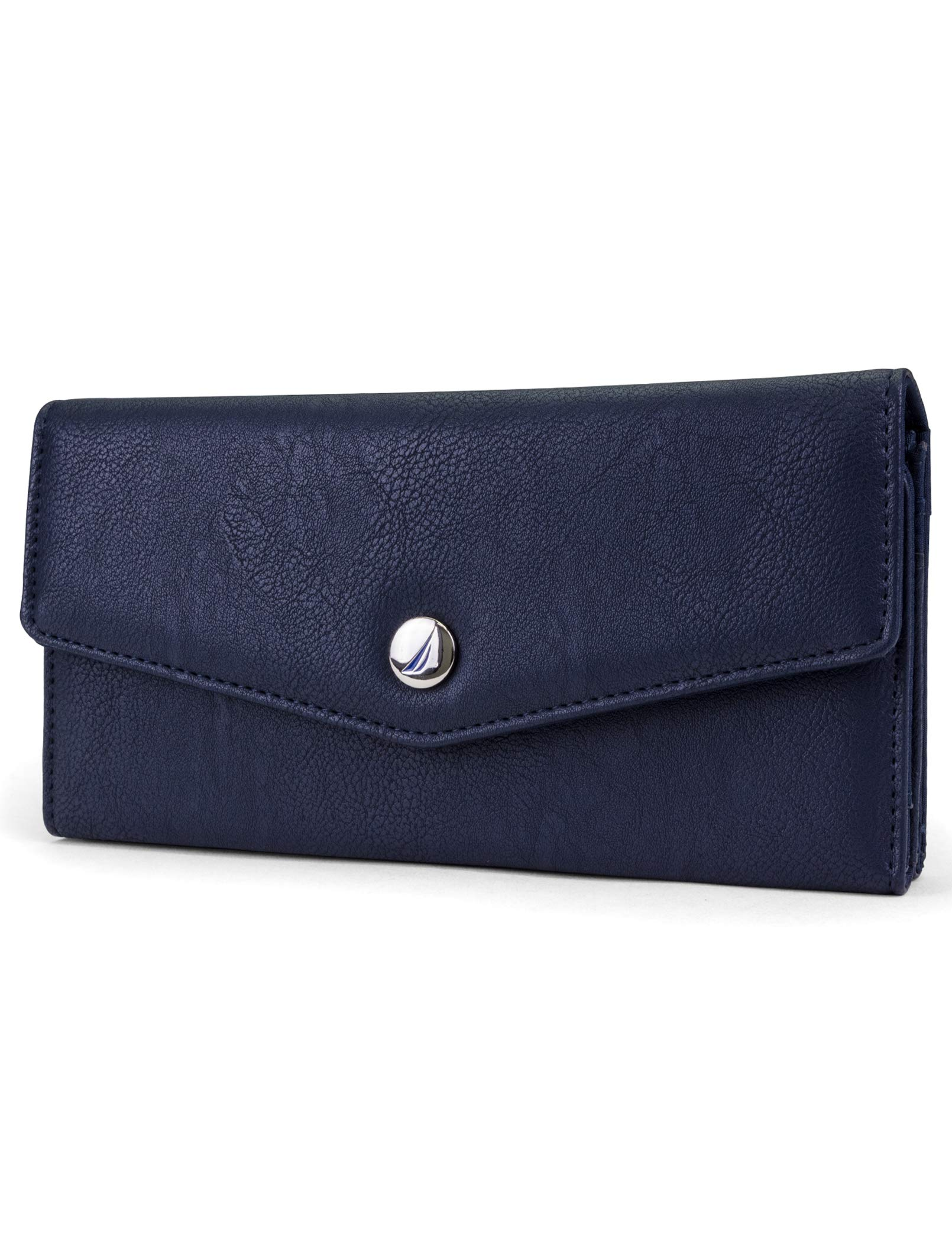 Nautica Money Manager RFID Women's Wallet Clutch Organizer (Indigo Buff) by Nautica