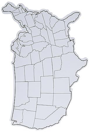 Amazoncom Chenille Kraft White Board Die Cut USA Map Piece - Usa map white