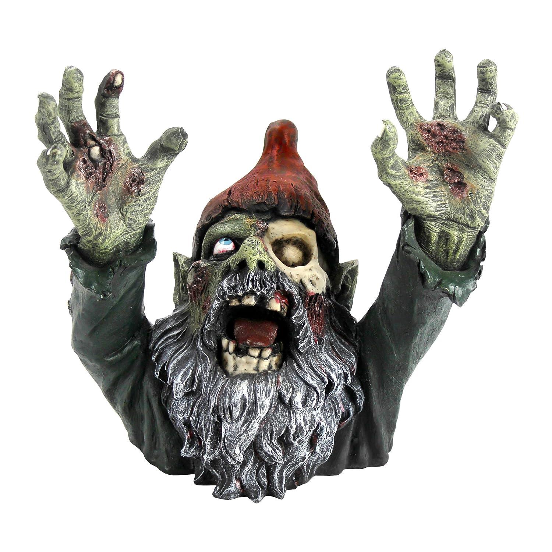Design Toscano Zombie Gnome - Zombie Gnombie Statue - Garden Gnome Statue