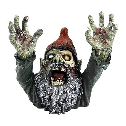 Genial Design Toscano Zombie Gnombie Gothic Decor Garden Gnome Graveyard Statue,  11 Inch, Polyresin,