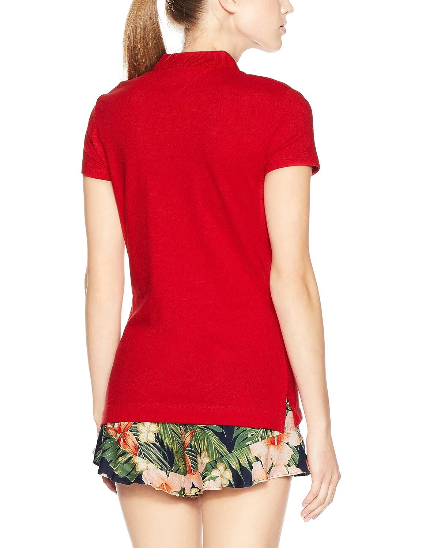Tommy Hilfiger Womens Chiara Polo Shirt Apple Red Medium