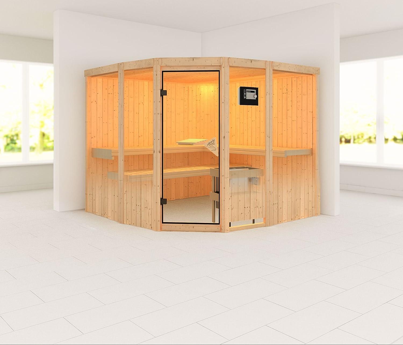 3 - sauna Karibu vs, Simara 9-kW-estufa - sin ventana-: Amazon.es: Bricolaje y herramientas