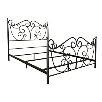 bello b538qdb metal bed frame queen dark bronze - Queen Metal Bed Frames