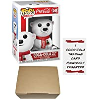 Funko Pop! AD Icons - Coca Cola Polar Bear Pop Vinyl Figure #58 - Coke Polar Bear - Coca Cola Pop + 1 Coca-Cola Trading Card + Cardboard Pop Protector Box