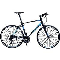 トリンクス(TRINX) 【クロスバイク】軽量アルミフレームに定番のシマノTOURNEY21段変速で街乗りから本格走行、競技まで フラットロード 700C FREE1.0 ブラック/ブルー 470mm【#Amazon  #通販 #クロスバイク  2019/10/10売れ筋ランキング15位】